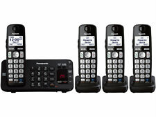 Panasonic KX-TGE244B DECT 6.0 Talking Cordless Phone w/ Big Buttons, 4 handsets