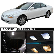 10x White LED Interior Lights Package for 1998-2002 Honda Accord Coupe