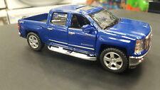 2014 Chevrolet Silverado azul kinsmart modelo juguete 1/46 escala coche de metal