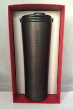 Starbucks matted/Soft Black Stainless Steel Tumbler Venti-20 oz 2015 NWT!