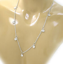 0.20 Carats t.w diamonds by the yard Stations 14K WHITE GOLD Necklace