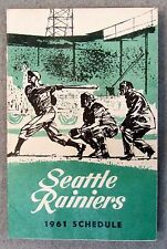 1961 SEATTLE RAINIERS PCL Pacific Coast League baseball pocket sked schedule