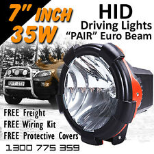 HID Xenon Driving Lights - Pair 7 Inch 35w Euro Beam 4x4 4wd Off Road
