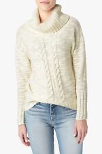 NWT 7 FOR ALL MANKIND SzL 100% WOOL COZY OVERSIZED PULLOVER SWEATER CREAM $389.