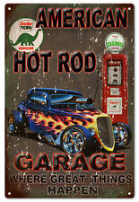 American Hot Rod Sinclair Sign Classic Garage Art