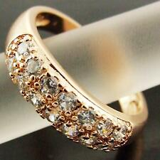 AN312 GENUINE REAL 18K ROSE G/F GOLD DIAMOND SIMULATED ANTIQUE ETERNITY RING