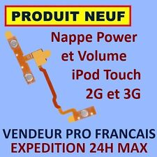 ✖ NAPPE BOUTONS POWER VOLUME IPOD TOUCH 2 2G 3 3G ✖ NEUF GARANTI EXPÉDITION 24H✖