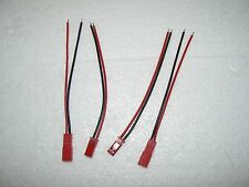 2 JST CONNECTOR SETS MALE/FEMALE 4 INCH LEAD USA SELLER