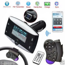 Bluetooth Wireless LCD Car Kit MP3 FM Transmitter Wheel Handsfree SD USB Remote