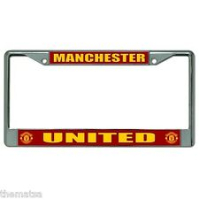 MANCHESTER UNITED ENGLISH FOOTBALL CLUB USA MADE CAR  LICENSE PLATE FRAME