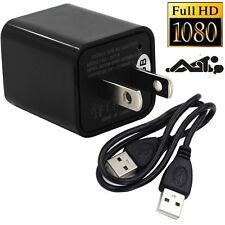 Mini 1080P 8G HD SPY DVR Hidden Camera Power Adapter Digital Video Record Cam