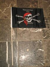 """12x18 12""""x18"""" Jolly Roger Pirate Surrender The Booty Stick Flag wood staff"""