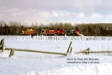 Canadian Pacific Rwy  Snowplow 401017 loco 8751 near  Cookshire  Quebec 1977 v