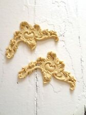 Antique Corners (2) Reproduction Furniture Applique-Wood&Resin-Trims & Appliques