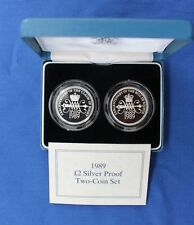 "1989 Silver Proof £2 set ""Bill & Claim of Rights"" in Case with COA  (X5/52)"