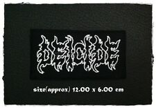 Deicide Sew Iron On Patch Embroidered Heavy Death Metal Rock Band Music Logo New