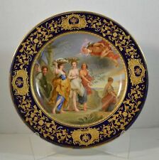 "Antique Royal Vienna Porcelain Plate ""Herse goes to the Temple of Minerva"""