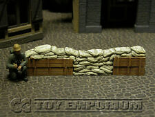 Build-a-Rama 1:32 Hand Painted WWII Deluxe Sandbag Barricade Wall Section #2