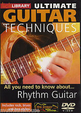 LICK LIBRARY ULTIMATE GUITAR TECHNIQUES RHYTHM GUITAR Learn to Play Rock DVD