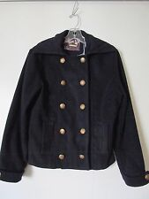 White Owl Ca. Navy Blue Double Breasted Gold Button Sailor Style Jacket. SZ. L