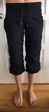 LULULEMON Size 6 Studio Crop Black Yoga Pants Dance Crops Wunder