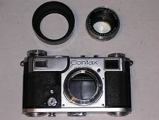 Contax Mount Carl Zeiss Jena Sonnar 5cm F1:2 50mm Camera Lens INC CONTAX CAMERA