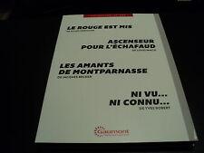 ASCENSEUR POUR L'ECHAFAUD / LES AMANTS DE MONTPARNASSE / NI VU NI CONNU / LE ROU