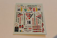 DECALS 1/43 FORD ESCORT COSWORTH BARONI RALLYE MONTE CARLO 1997 RMC RALLY WRC