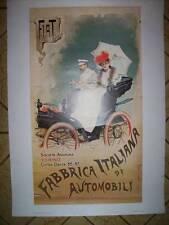 POSTER FIAT FABBRICA ITALIANA DI AUTOMOBILI SOCIETA' ANONIMA  (M34-14)
