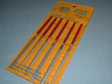 EZE LAP 607C Diamond Needle File Set Coarse 250 Grit Six Shapes Made in USA