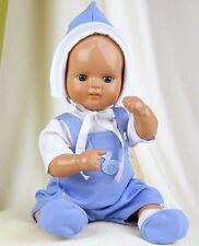 Schildkröt Puppenkleidung, blaue Babygarnitur für  ein 31 cm großes Strampelchen