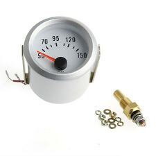"2"" 52mm Electrical Oil Temp Temperature Gauge Celsius Pointer Blue LED Meter"