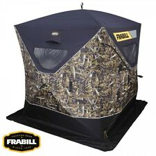 Frabill Fishouflage 2-3 Man Thermal Ice Fishing Shanty Shelter w/Case & Anchors