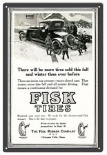 Reproduction Fisk Tires Gas Station Motor Oil Sign