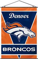 """Denver Broncos NFL Indoor Wall Banner Scroll 28""""X40"""" Vertical Hanging Flag"""