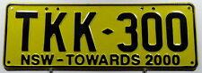"Nummernschild Australien New South Wales ""TOWARDS 2000"". 11995."