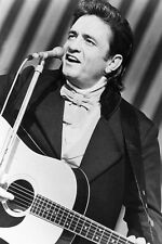 Johnny Cash B&W on TV Show 11x17 Mini Poster