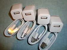 4x Wall Chargers and 4x 3FT 8Pin USB SYNC DATA CABLE CORD for i Phone 7 6S 5S SE