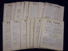 1886 THE CRITIC MAGAZINE LOT OF 25 ISSUES - GREAT REVIEWS & ARTICLES - WR 798