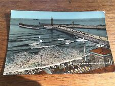 c1910 colour Postcard WHITBY PIERS & New Extension North Yorkshire unPosted