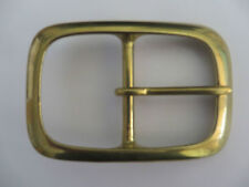 "SOLID BRASS HEAVY FULL OVAL  BELT BUCKLE FOR 50mm (2"")  STRAP"