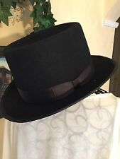 Black Felt Top Hat Steampunk Accessories for Men & Women Vintage