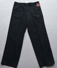 NWT Dockers Individual Fit Waistband Pleated Black Pants Size W33 L 30