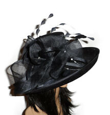 FAILSWORTH DARK NAVY BLUE ASCOT WEDDING HAT FORMAL OCCASION MOTHER OF THE BRIDE
