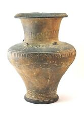 c.14thC NORTHERN THAILAND SUKHOTHAI KHMER INCISED STONEWARE POTTERY STORAGE VASE