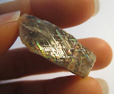 VERY RARE 54CT BEAUTIFUL UNIQUE RAINBOW LATTICE SUNSTONE CRYSTAL AUSTRALIA