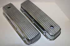 BBC FINNED TALL POLISHED ALUMINUM VALVE COVERS FITS BB CHEVY 396 427 454 502