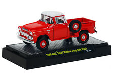 M2- '59 GMC RED STEPSIDE TRUCK 1/64 SMALL WINDOW w/RR BOXED HTF