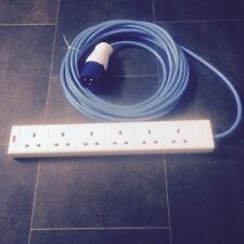 5 Metre Camping Electric Hook Up Lead Cable 6 WAY! 240 Volt FREE POSTAGE!!
