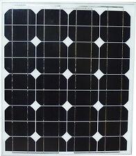 50W 50 Watt Mono Solar Panel panneau solaire 12V RV Boat Trailer Camping